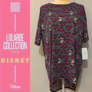 LuLaRoe Irma Disney High Low Oversized Shirt Sz S